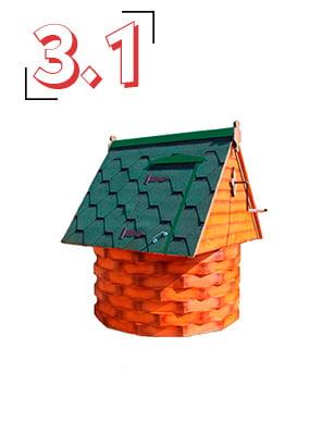 домик для колодца купеческий 3,1