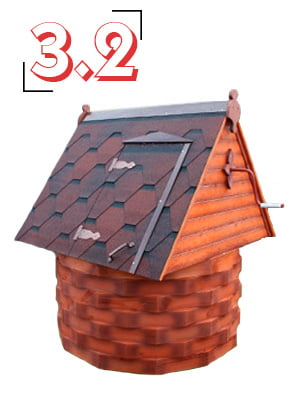 домик для колодца купеческий 3,2