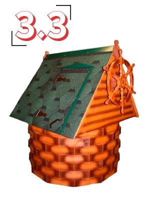 домик для колодца купеческий 3,3