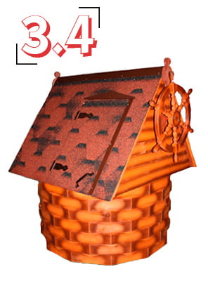 домик для колодца купеческий 3,4